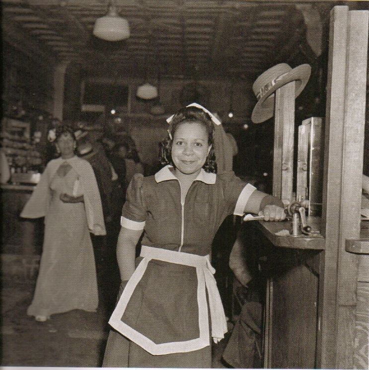 Waitress at the Crawford Grill 1952