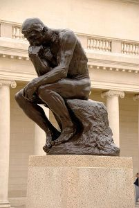 The Thinker, Auguste Rodin.