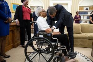 obama and maxine mcnair