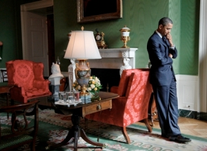 Obama in the green room