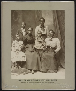 Mrs. Frazer Baker and Children, c. 1899.