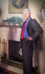 Nelson Shank's official portrait of former president, Bill Clinton.