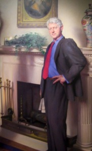 Nelson Shank's official portrait of former president, Bill Clinton.