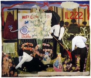 Many Mansions (1994), Kerry James Marshall.