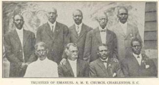 Denmark Vesey alongside other Emanuel founders.